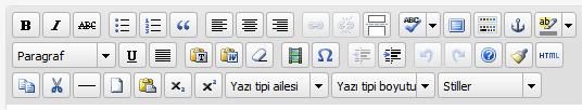 WordPress metin editörünün gizli butonlarını göstermek