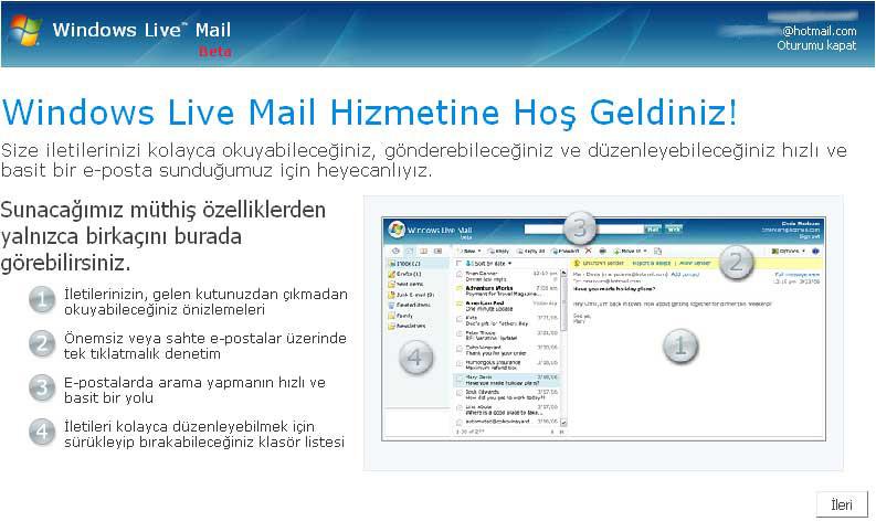 Windows Live Mail nasıl alınır?