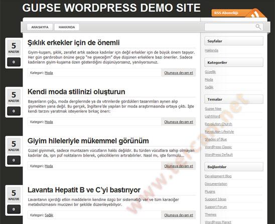 WordPress Lightword teması Türkçe çevirisi